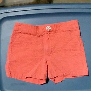 Gymboree girls 7 orange textured shorts, EUC